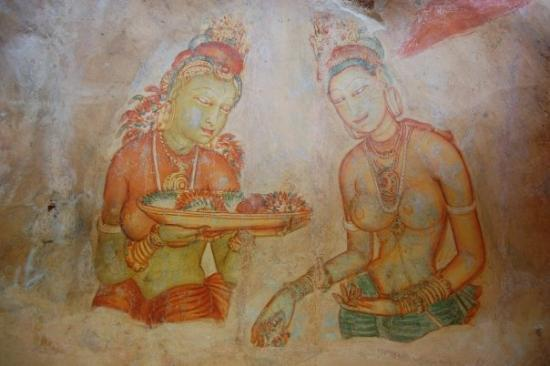 Citadel of Sigiriya - Lion Rock: The ancient Fresco paintings
