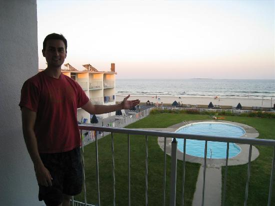 Royal Anchor Resort: View from the balcony - beach is in the background