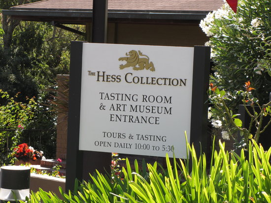 The Hess Collection Winery & Art Museum: Sign