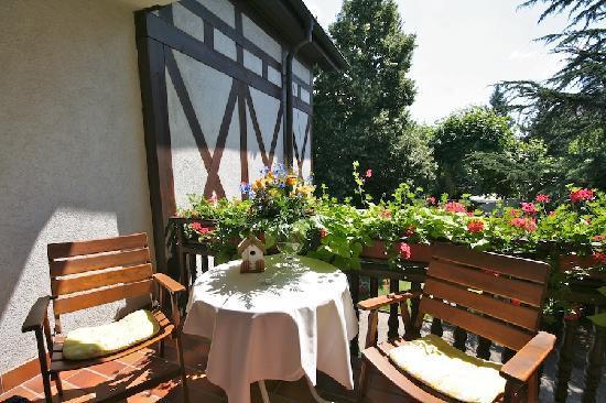 Oberkirch, Niemcy: Balkon mit Aussicht auf die Berge