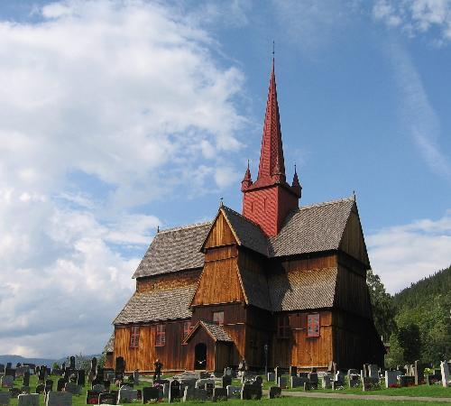 Oslo, Norwegen: eglise de Borgund