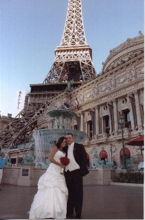 Paris Las Vegas Wedding Yep My Wedding Dress Was Short Very Ooh La La