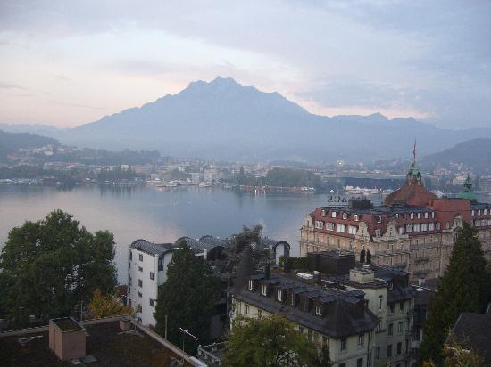 Hotel Royal Luzern: Scene from balcony