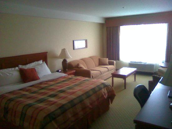 BEST WESTERN PLUS Meridian Hotel: Bed and sofa