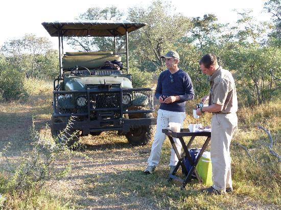 Spirit of Africa Lodge: pause café de luxe en safari