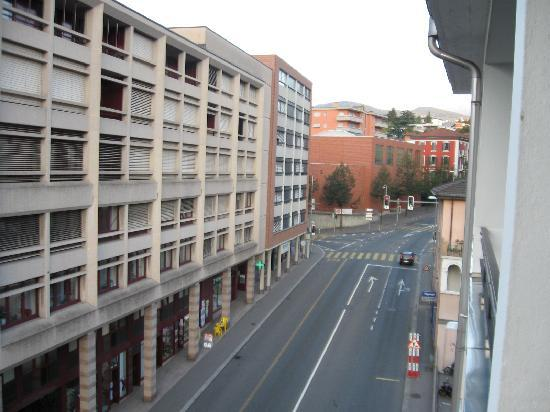 Hotel Besso: View from the room - the street infront of the hotel