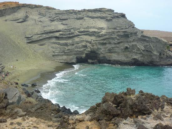 Naalehu, Hawaje: Green sands beach