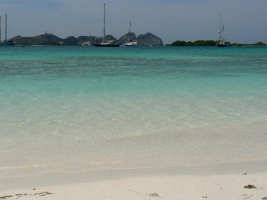 Posada Natura Viva: View of Los Roques from one of the nearby islands