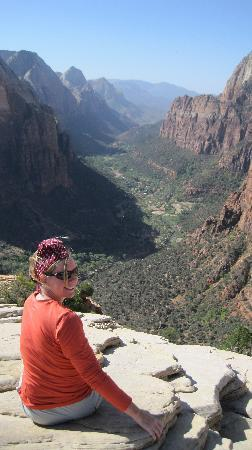 Zion's Main Canyon: At the top