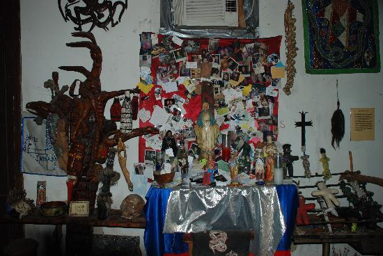 New Orleans, LA: Voodoo altar at the Voodoo Museum.