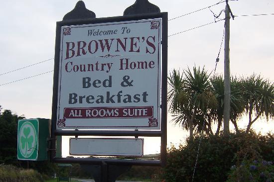 Brownes Bed & Breakfast Dingle: Sign