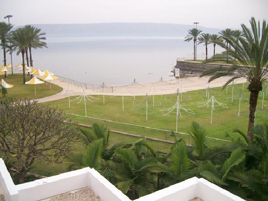 Gai Beach Resort Spa Hotel: View of the Sea of Galilee from my hotel room