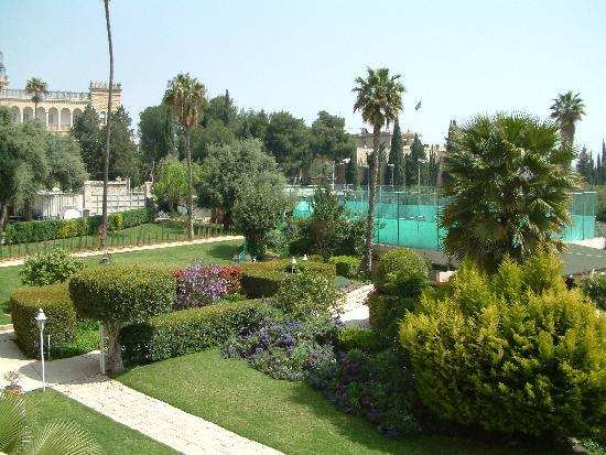 King David pool/gardens - Picture of The King David, Jerusalem ...