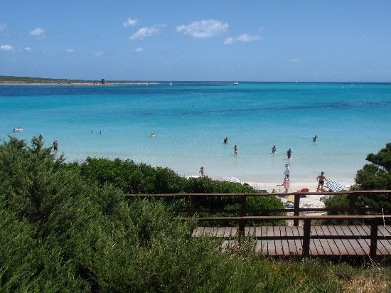 La Pelosa Beach: vista sulla spiaggia
