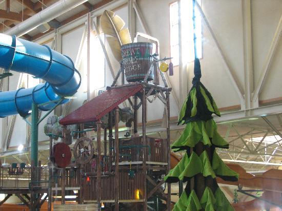 Great Wolf Lodge: Inside the waterpark.