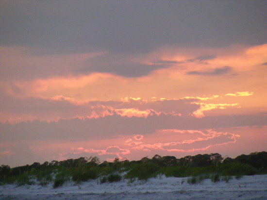 Mexico Beach, FL: Beautiful sunset