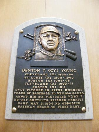 National Baseball Hall of Fame and Museum: Cy Young's plaque