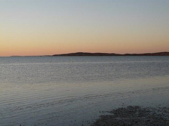 Denham, Australia: sunset at Shark bay
