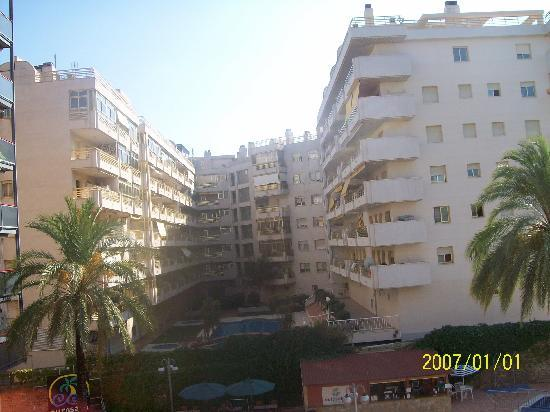 Eurosalou Hotel: VIEW FROM BALCONY
