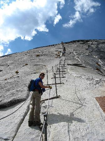Half Dome: Climbing the cables to the summit