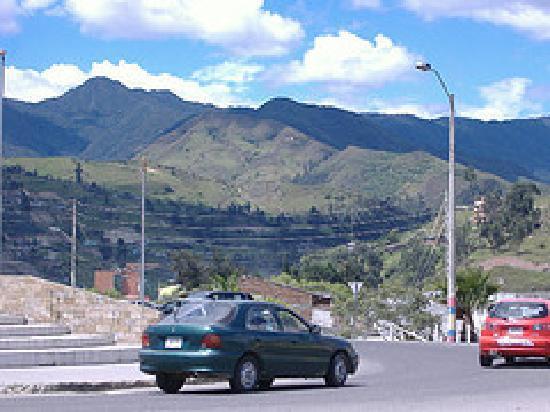 Loja, Ecuador: traffic circle near terminal terrestre