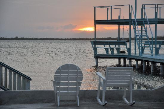 Lazy Daze on the Bay: Sunset from the private dock