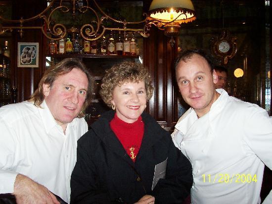 La Fontaine Gaillon : wife, Mr.Depardieu,&  Chef Laurant