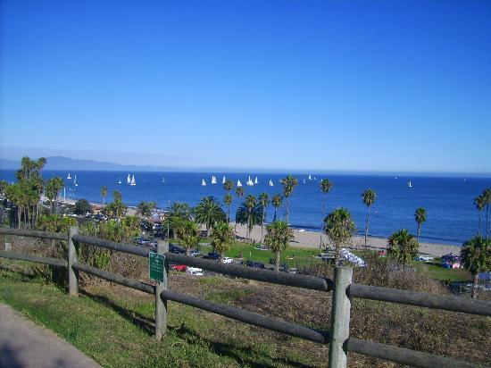 View from Santa Barbara City College overlooking West Beach