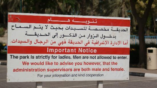 Dubai, Vereinigte Arabische Emirate: Ladies Only day at Jumeriah Park Beach