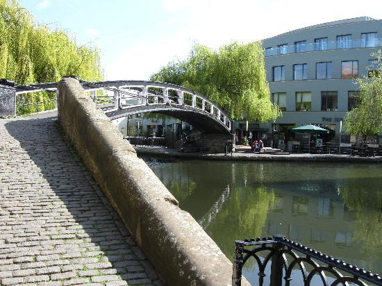 London, UK: The bridge near a great pub called the Lockside Lounge near Camden Square Market
