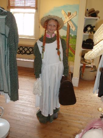 Avonlea Village: Gwendolyn enjoying being Anne with a E