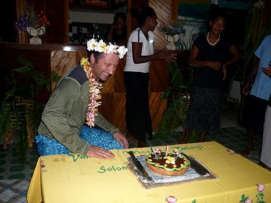 Tulaghi Island, Solomon Islands: Birthday surprise at Vanita