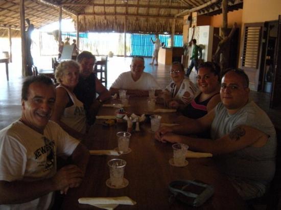 Aruba Ostrich Farm: our group at lunch at the ostrich farm