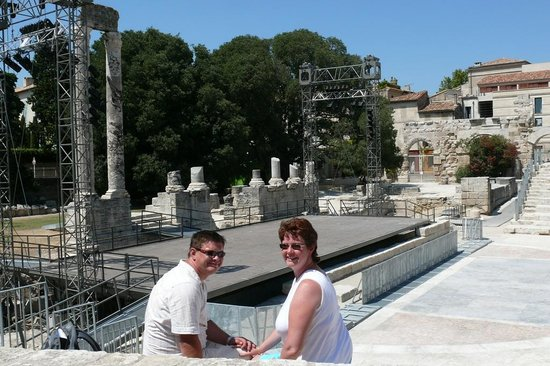Hotel Mas des Piboules : Roman arena