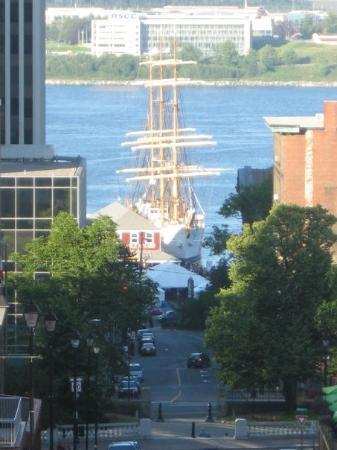 A Tall Ship in the Halifax harbour as seen from the Clock Tower.