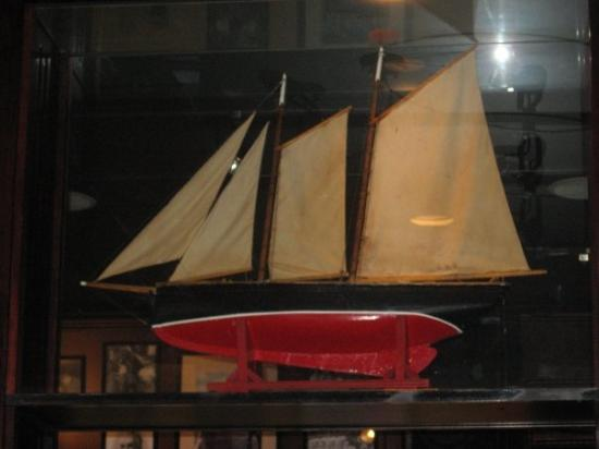 Halifax, Canada: a model ship in Stayner's.