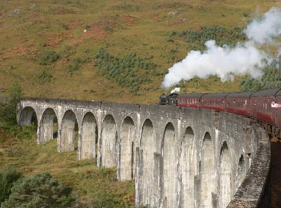 Jacobite Steam Train: Crossing the Glenfinnan Viaduct