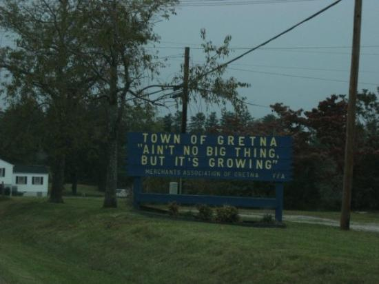The sign on the way into Gretna