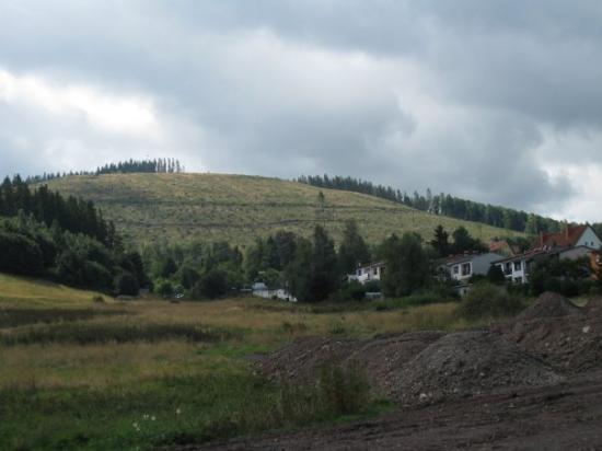 อิลเมโน, เยอรมนี: A view from the Thuringian mountains after a storm took away some trees.
