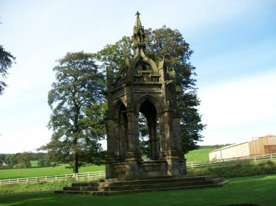 Bolton Abbey, UK: Memorial to Frederick Cavendish who was assassinated in 1882.