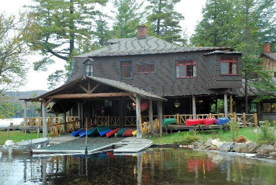 Blue Mountain Lake, État de New York : Main lodge