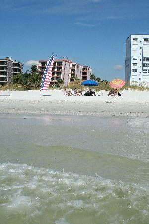 Gulf Gate Resort : A view of Gulf Gate from the Gulf of Mexico