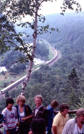 Су-Сент-Мари, Канада: Tourn train from the canyon lookout