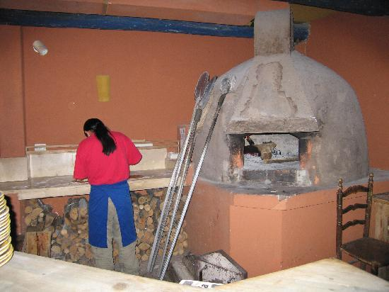 Hostal Dona Esther: At the restaurant in Doña Esther Hotel. Wood oven pizza.