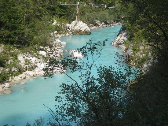 Lake Bohinj: soca river