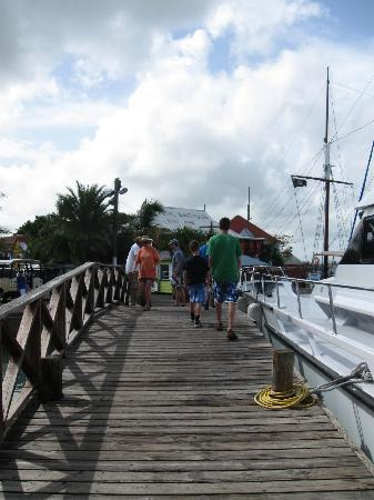 Explore Antigua with Gordan: That's Gordon on the boardwalk--in the white shirt!