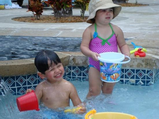 "The Westin Grand Cayman Seven Mile Beach Resort & Spa: Grayson playing with Sophie, just ""one"" of the girls he picked up while vacationing in the Cayma"