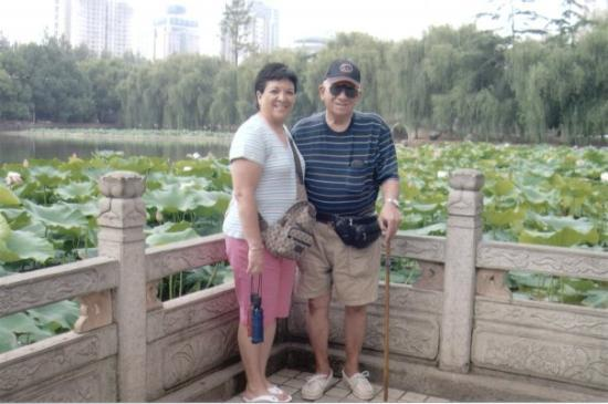 Green Lake (Cui Hu): My Dad and I in Kunming, China where Paul and I lived for a little over 5 years.