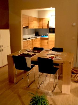 ApartGent Business & Travel Apartments: In Ghent we had a living room, kitchen and bedroom = not a bad B&B deal :)
