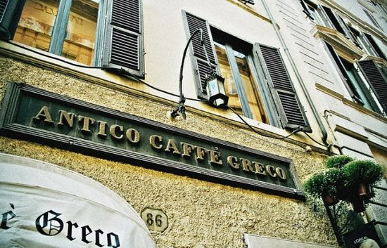 Caffe Greco: Caffè Greco's Visitors included (according to the LONELY PLANET GUIDE) Casanova, Stendhal, Wagne